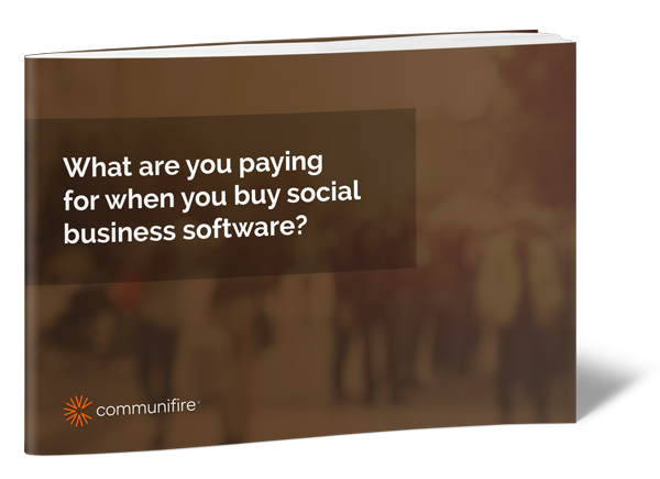 What are you paying for when you buy social business software